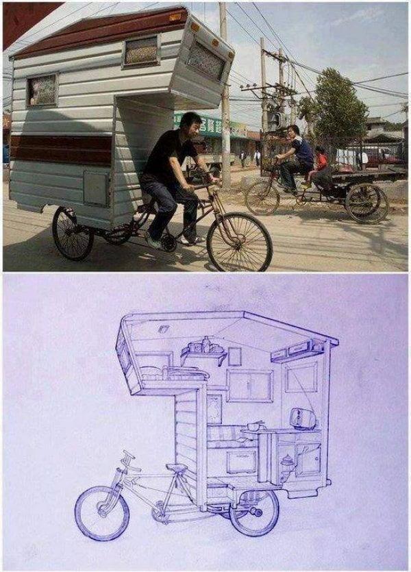 biciclete ciudate 7. Bicicleta rulota