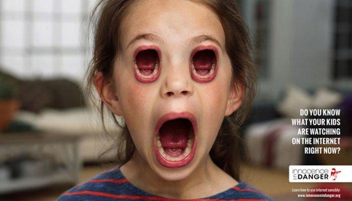 copii cu guri in loc de ochi