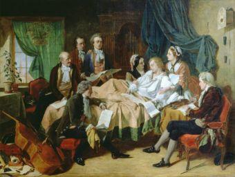 Mozart pe patul de moarte