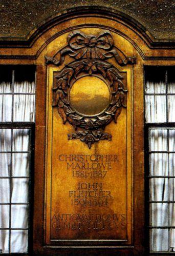 Piatra comemorativa Christopher Marlowe