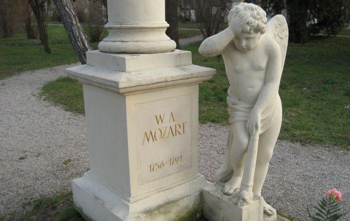Wolfgang Amadeus Mozart- piatra funerara
