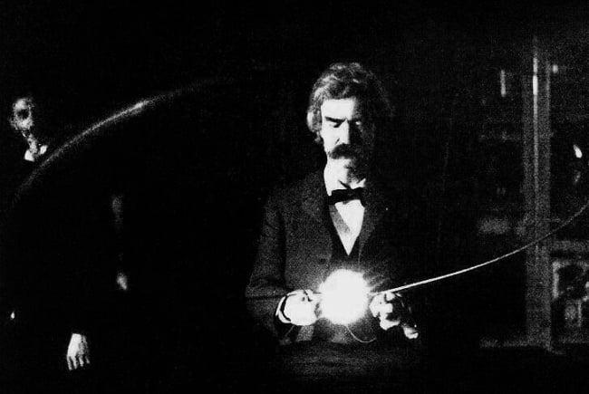 Twain si Tesla