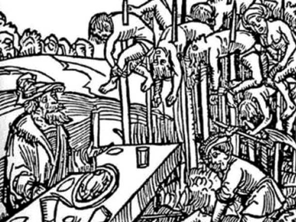 3. pedepse medievale - metode de tortura - trasul in teapa