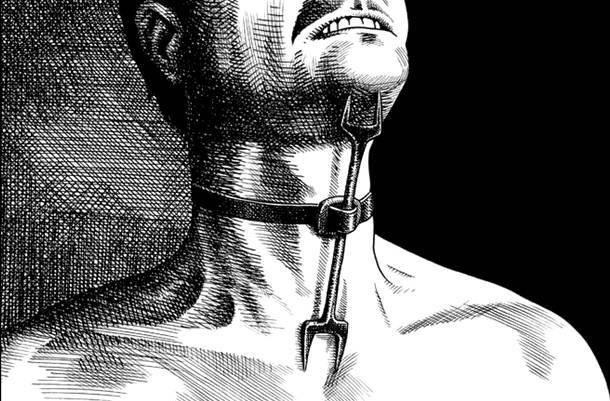 4. pedepse medievale - metode de tortura -furculita ereticului