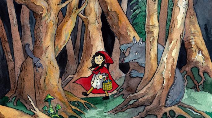 Povesti pentru copii - Scufita Rosie