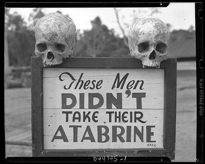fotografii istorice - reclama la atabrine