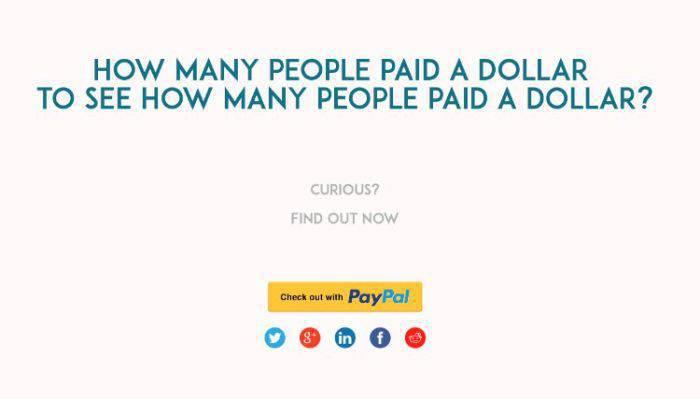 cum sa faci bani din nimic - cati oameni platesc un dolar-OK