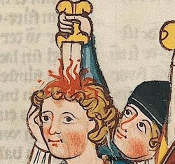 Arta medievala - Oameni plictisiti