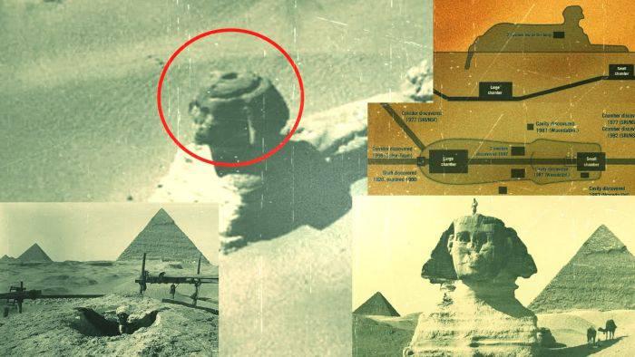 Sfinxul din Egipt - Camera ascunsa