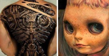 13 tatuaje 3D excepționale, care te vor lăsa fără cuvinte