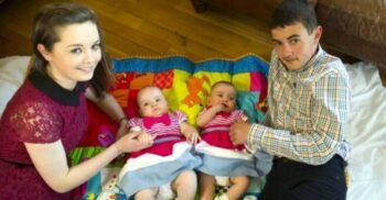 Amy și Kate: gemenele născute la 87 de zile distanță