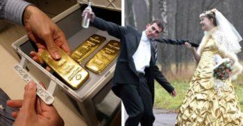 O firmă închiriază aur săracilor care vor să pară bogați la nuntă