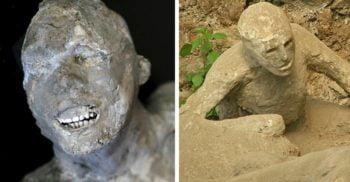 15 imagini ale agoniei încremenite în timp pe victimele de la Pompei