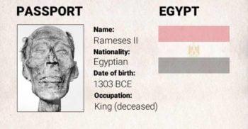 Ramses al II-lea, mumia care a avut nevoie de pașaport