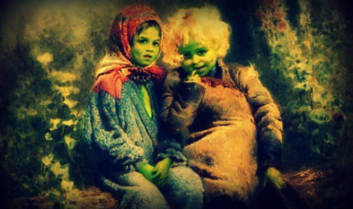 copiii verzi din Woolpit