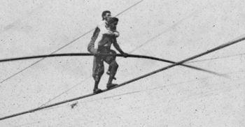 Charles Blondin, acrobatul care a traversat Niagara pe sârmă cărând un om în spate FEATURED_compressed