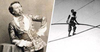 Charles Blondin, omul care a traversat Niagara pe sârmă, cărându-și managerul în spate