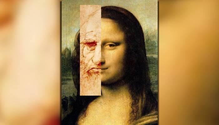 Leonardo da Vinci - Autoportret Mona Lisa
