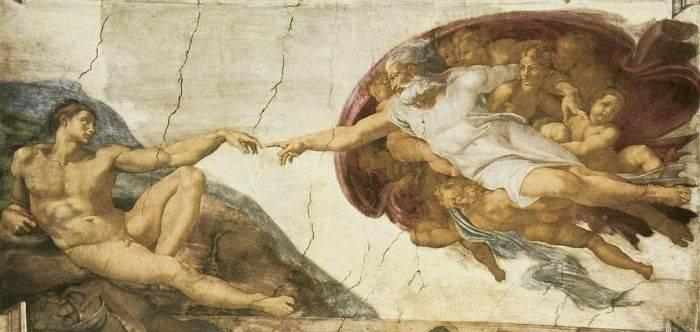 Picturi celebre - Crearea lui Adam