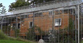 O familie din Suedia trăiește în casa de vis construită într-o seră
