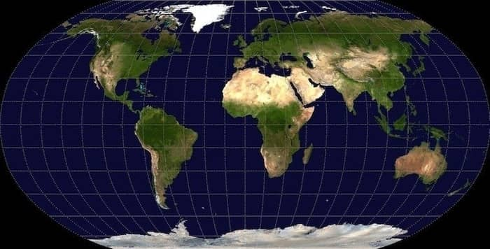 harta lumii robinson