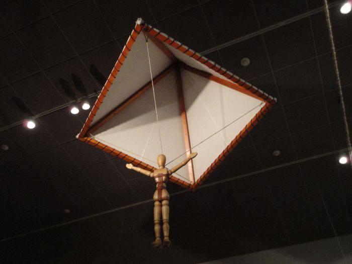 nvențiile lui Leonardo da Vinci parașuta