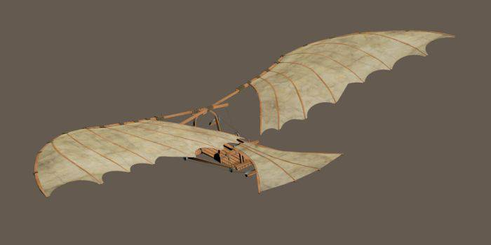 invențiile lui Leonardo da Vinci planorul