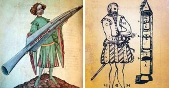 """""""Sulițele zburătoare"""" ale lui Conrad Haas, rachetele medievale descrise în Manuscrisul de la Sibiu"""