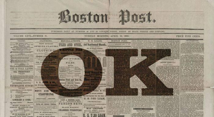 """Adevărata istorie a cuvântului """"OK"""", cel mai folosit americanism din lume"""