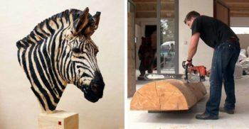 17 de sculpturi în lemn incredibile realizate cu drujba
