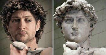 Față în față cu statuia lui David, uriașul de marmură creat de genialul Michelangelo