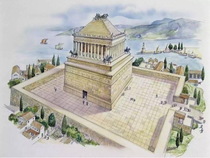 minuni ale lumii antice mausoleul din halicarnas