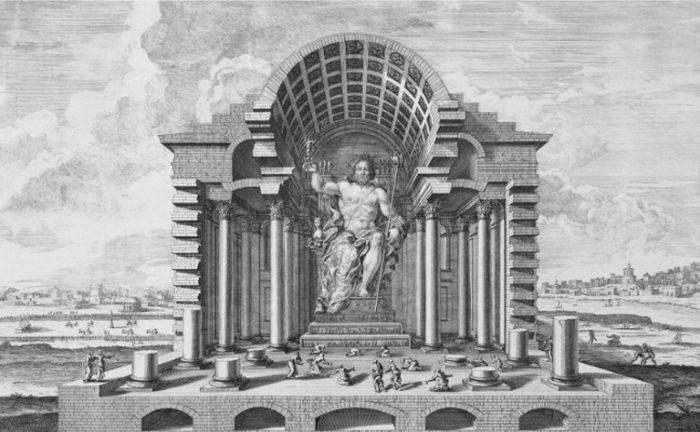 minuni ale lumii antice statuia lui zeus din olimpia