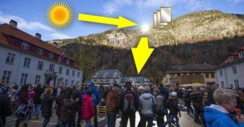 Acest oraș-văgăună are nevoie de oglinzi pentru a vedea Soarele iarna