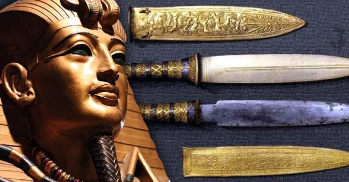 Arme străvechi din spațiul cosmic Pumnalul lui Tutankhamon a fost făcut din fier de meteorit featured_compressed