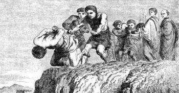 Stânca Tarpeiană, locul de pe care erau aruncați trădătorii romani