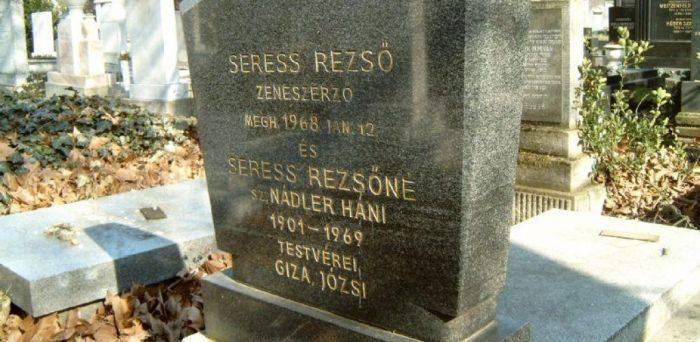 Piatra funerară a lui Rezso Seress
