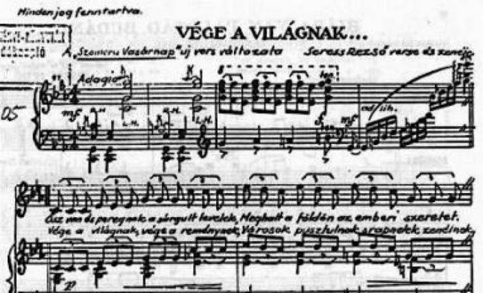 Partitura originală a cântecului