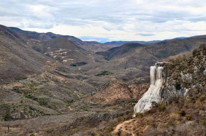 The petrified waterfalls