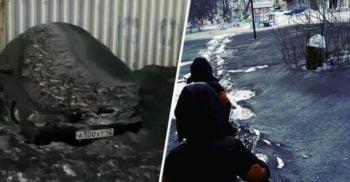 Mai multe orașe din Rusia au fost acoperite de zăpadă neagră și toxică