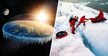"""Adepții teoriei Pământului plat lansează o expediție spre """"zidul de la marginea lumii"""", în Antarctica"""