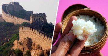 Cum de rezistă Marele Zid Chinezesc? Secretul: mortarul cu orez