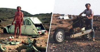 Electricianul care s-a salvat din deșertul Sahara transformându-și mașina stricată în motocicletă