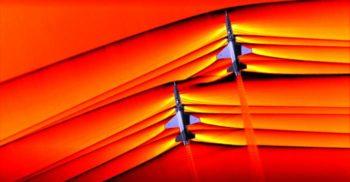 Pentru prima dată în istorie, NASA a fotografiat unde de șoc supersonice contopindu-se în aer