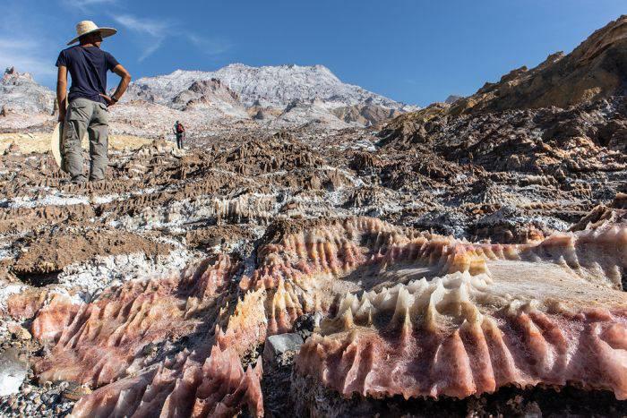 ghețarii de sare din Iran