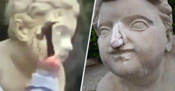 """""""Sunt atât de proastă!"""" A distrus cu ciocanul statui de 200 de ani ca să atragă abonați pe Instagram"""