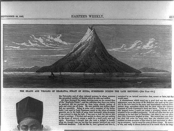 Articol ziar vulcanul Krakatau