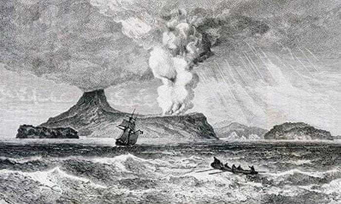 Eruptia vulcanului Krakatau 02