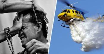 Un preot va exorciza un oraș întreg aruncând apă sfințită din elicopter