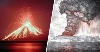 Vulcanul Krakatau: Erupția enormă care s-a auzit în jurul lumii
